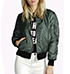 Womens Aviator Jacket – Sage Green / Satin Finish