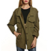 Womens Casual Jacket – Dark Olive Green / Breast Pockets