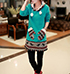 Womens Sweatshirt Tunic – Sea Green / Matching Mittens