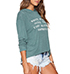 Womens Long Sleeved Tee – Muted Green / Attached Hood