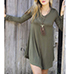 Reversed Duster Style Tunic – Army Green