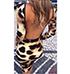Leopard Printed Dress – Open Back / Long Sleeves