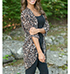 Womens Lightweight Jacket – Leopard Print / Rounded Hemline