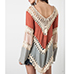 Poncho Style Top – Multicolor / Long Sleeves