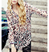 Womens Tunic – Multicolored Leopard Print / Long Sleeves