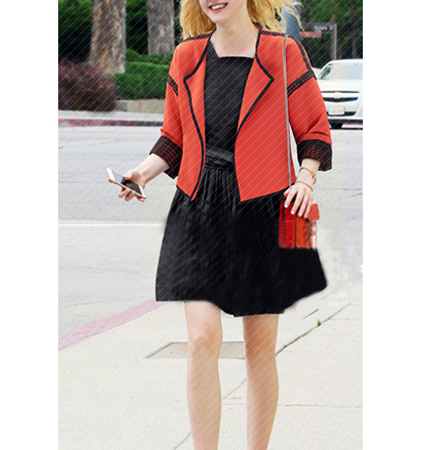 Womens Lightweight Neoprene Jacket – Bright Orange / Black Trim