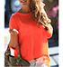 Womens Casual T-Shirt – Open Back / Three Quarter Length Sleeves