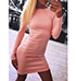 Racy Stretch Knit Body Conscious Dress – Pink