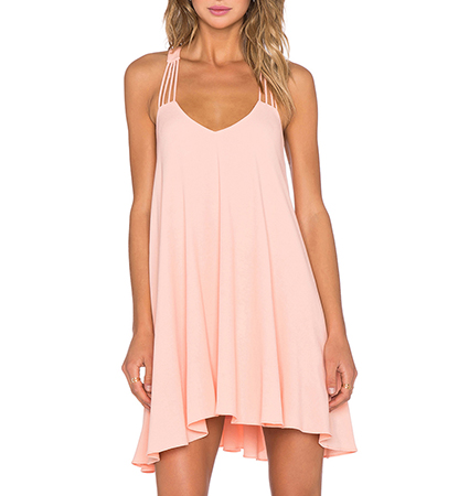 Trapeze Style Sleeveless Mini Dress – Pink