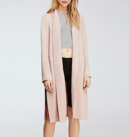 Duster Style Wrap – Baby Blush Pink