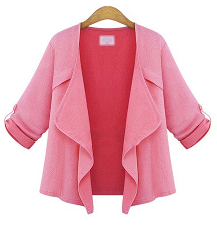 Womens Swing Style Jacket – Pink / Wide Lapels