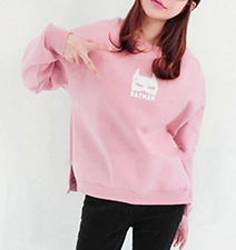 Womens Sweatshirt – Perfectly Pretty Pink Kitty