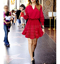 Skater Dress – Flared Skirt / Red / Long Sleeves