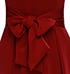 Maxi Formal Gown – Deep Red / Decorative Bow