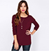 Maroon Colored Shirt – Three Quarter Sleeves / Open Back V Cut