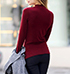 Womens Red Turtleneck Sweater – Long Sleeves / Form Fit