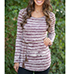 Womens Tunic – Brown And White / Striped Fabric