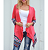 Womens Wrap – Deep Coral / Long Sleeves