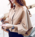 Womens Short Jacket – Tan / Puffy Sleeves