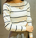 Womens Casual Striped Sweater – Long Sleeves / Nautical Inspired Design