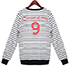 Womens Sweatshirt – Black and White Stripes / Number 9 Logo