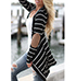 Womens Lightweight Wrap – Black and White / Stripes
