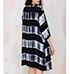 Womens Kimono Style Wrap – Black and White / Horizontal Stripes