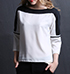 Womens Casual Blouse – Black and White / Three Quarter Length Sleeves