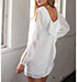 Casual White Dress – Open Arm On Left / Rounded Neckline
