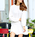 Mini Dress – Solid White / Long Sleeves