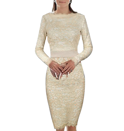 Royal Beauty Princess Sheath Dress – White Lace