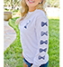 Womens USA-Themed Casual Shirt – White / Bow Detail