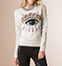 Womens Long Sleeved Shirt – Eye Logo / White