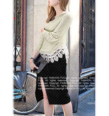 Womens Lace Sweater – Off White