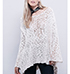 Womens Loose Fitting Sweater – Off White / Asymmetrical Hemline
