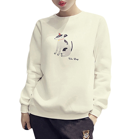 Womens White Sweatshirt – Good Dog