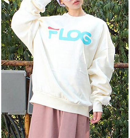 Womens Sweatshirt – Flog Logo / White