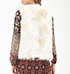 Womens Faux Fur Vest – White / Sleeveless