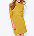 Ginger Dress – Soft Cotton / High Rounded Neckline / Long Sleeves / Belted